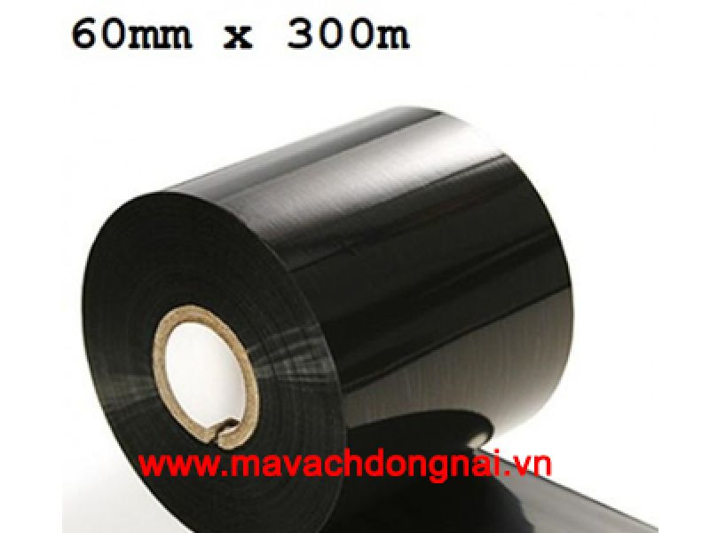 Ribbon Mực in mã vạch Wax 60mm x 300m