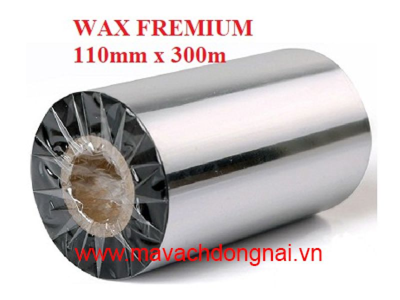 Mực in mã vạch ribbon wax premium 110mm x 300m
